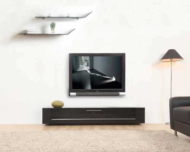 B Modern Editor Remix Matte Black TV Stand