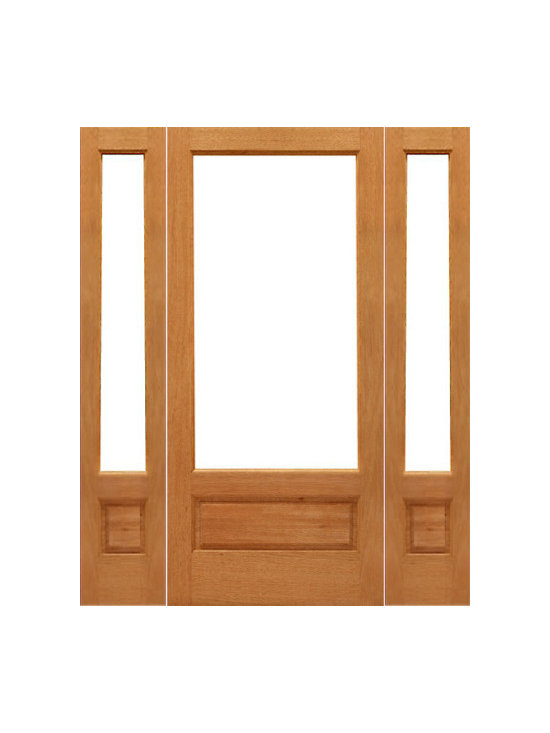 "Prehung 1-lite-P/B Patio Brazilian Mahogany Wood 1 Panel IG Glass Sidelights Doo - SKU#    1-lite-P/B-Ext-1-2Brand    AAWDoor Type    FrenchManufacturer Collection    Mahogany French DoorsDoor Model    Door Material    WoodWoodgrain    MahoganyVeneer    Price    1954Door Size Options    [24""+2(14"") x 96""] (4'-4"" x 8'-0"")  $0[24""+2(18"") x 96""] (5'-0"" x 8'-0"")  $0[30""+2(14"") x 96""] (4'-10"" x 8'-0"")  $0[30""+2(18"") x 96""] (5'-6"" x 8'-0"")  $0[32""+2(14"") x 96""] (5'-0"" x 8'-0"")  $0[32""+2(18"") x 96""] (5'-8"" x 8'-0"")  $0[36""+2(14"") x 96""] (5'-4"" x 8'-0"")  $0[36""+2(18"") x 96""] (6'-0"" x 8'-0"")  $0Core Type    SolidDoor Style    Door Lite Style    3/4 Lite , 1 LiteDoor Panel Style    1 Panel , Ovolo StickingHome Style Matching    Craftsman , Colonial , Cape Cod , VictorianDoor Construction    Engineered Stiles and RailsPrehanging Options    PrehungPrehung Configuration    Door with Two SidelitesDoor Thickness (Inches)    1.75Glass Thickness (Inches)    1/2Glass Type    Double GlazedGlass Caming    Glass Features    Insulated , Tempered , low-E , Beveled , DualGlass Style    Clear , White LaminatedGlass Texture    Clear , White LaminatedGlass Obscurity    No Obscurity , High ObscurityDoor Features    Door Approvals    FSCDoor Finishes    Door Accessories    Weight (lbs)    850Crating Size    25"" (w)x 108"" (l)x 52"" (h)Lead Time    Slab Doors: 7 daysPrehung:14 daysPrefinished, PreHung:21 daysWarranty    1 Year Limited Manufacturer WarrantyHere you can download warranty PDF document."