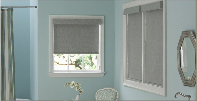 Bathroom roller shades other metro by 3 day blinds for Blinds bathroom window
