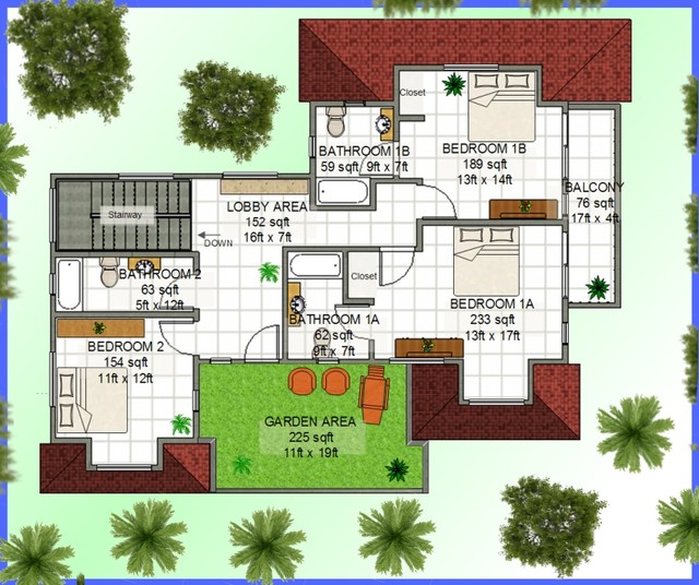 Caribbean building plans home design hd001 traditional for Caribbean home plans