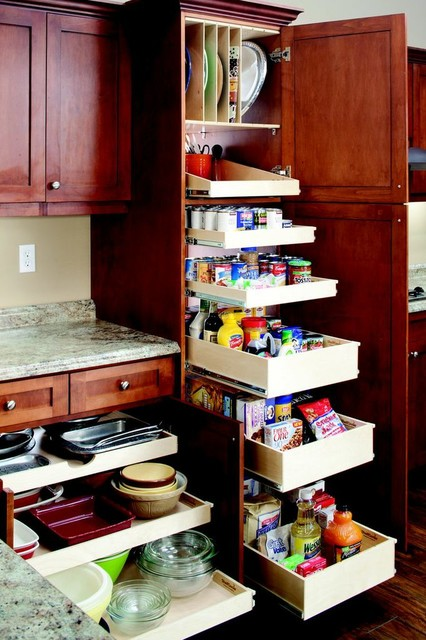 Pull Out Pantry Shelves contemporary-pantry