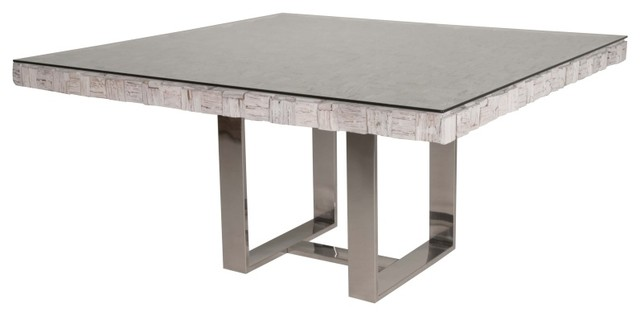 Native Dining Square Dining Table White Wash Modern Dining Tables