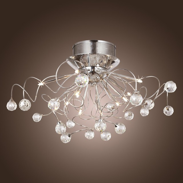 LightInTheBox Modern Crystal chandelier with 11 Lights modern-chandeliers