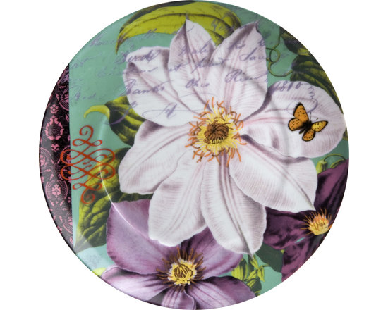 Waechtersbach - Impressions Set of 4 Plates Impressions Clematis in White - Enjoy the romance of climbing clematis on your tableware with this beautifully painted set of four plates. The collage effect creates a stunning backdrop for every meal and is sure to be enjoyed for years to come. And as a bonus, the painted petals only look delicate, as these dishes are made to withstand daily use and dishwashers!