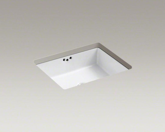 """KOHLER White Kathryn® 19-3/4"""" X 15-5/8"""" X 6-1/4"""" Under-mount Bathroom Sink - Inspired by a 1929 KOHLER exhibition at the Metropolitan Museum of Art, the Kathryn collection captures the unforgettable style of a bygone era. With its modern interpretation of retro styling, this rectangular under-mount sink makes a striking addition to the bathroom."""