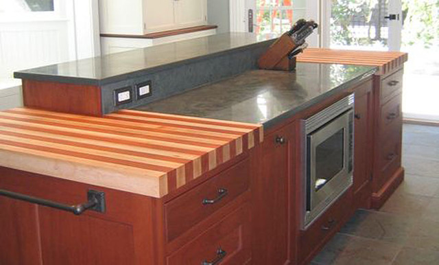 Cherry and maple stripe wood kitchen countertop by - Wood kitchen counter tops ...