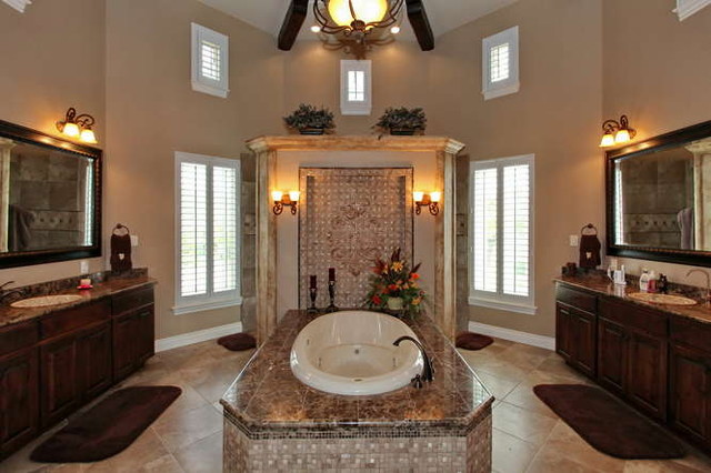 Elegant bathrooms in the Texas Hill Country by Stadler Custom Homes traditional bathroom