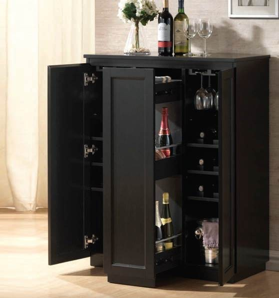 ACME Furniture - Ioanis Black Finish Wine Bar - 97020 - Traditional - Wine And Bar Cabinets ...