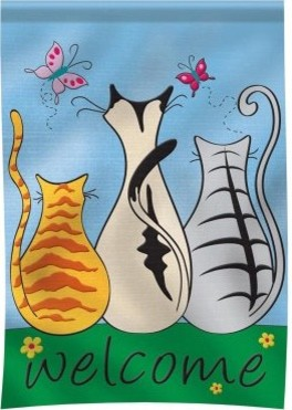 Carson 29 x 42 Welcome Cats LG Flag modern-patio-furniture-and-outdoor-furniture