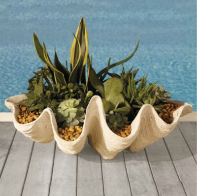 Seashell Outdoor Planter tropical outdoor planters