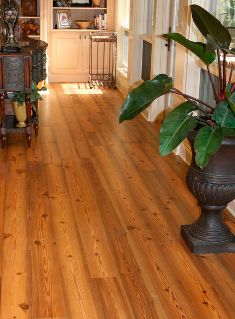 Old florida heart pine wood flooring traditional for Wood flooring miami