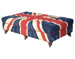 Bensington Union Jack Ottoman contemporary ottomans and cubes