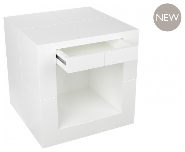 The Drawer Cube White Contemporary Side Tables End Tables By Kelly Hoppen London