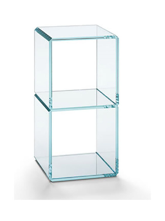#8 Modern Glass Side Table - Digit Tables - Digit side table is an extra clear or transparent glass unit forming numbers that appear just like digital number displays. You can combine several standard size Digit elements to create different units, such as coffee tables, side tables, and shelves. The glass pieces are precision cut and bonded together.