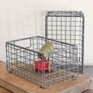 Wire Baskets, Set of 2 eclectic-baskets