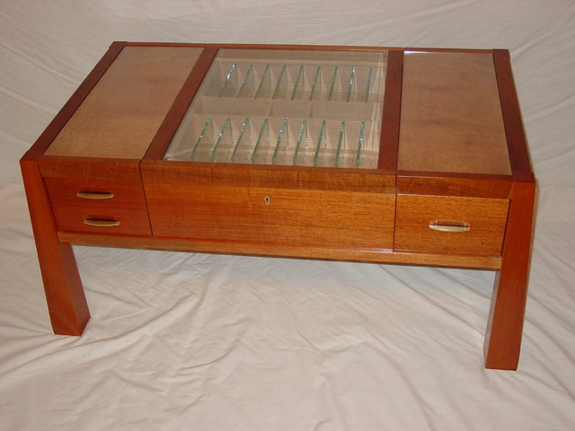 Humidor Coffee Table Craftsman Coffee Tables Other Metro By Curtis Hart Furniture