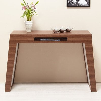 Kodie Sofa/Console Table in Oak and White modern side tables and accent tables