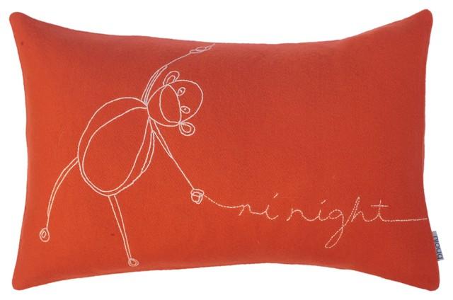 Kids Monkey Pillow modern-kids-bedding