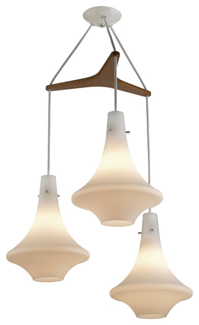 Orbis Tri: Mid-Century Modern Chandelier contemporary-chandeliers