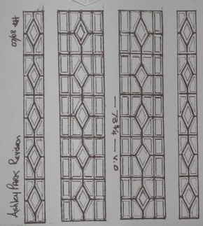 Leaded Glass and Stained Glass Inserts. traditional