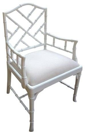 Charlotte Chinese Chippendale Dining Chair (Side and Arm & colors) traditional-dining-chairs