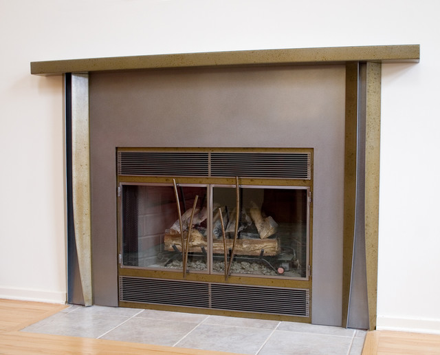 Modern Fireplace Surrounds modern-indoor-fireplaces