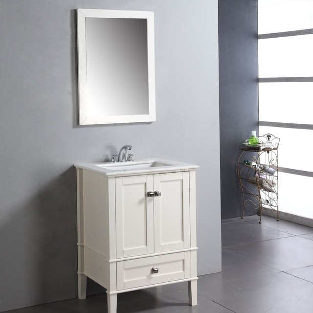 Simpli Home Chesapeake 24 In Single Bathroom Vanity Modern Bathroom Vani