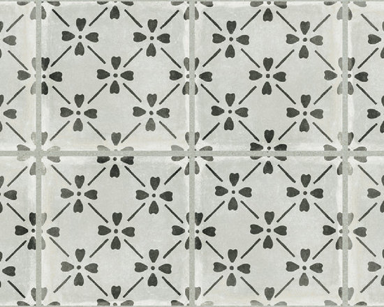 GRAPHITE BLOOM DECO 12X24 - The Palazzo collection provides a multi-faceted dynamic of old world charm and modern beauty with three beautiful colors and four unique decorative designs. Trim options and mosaics also available.
