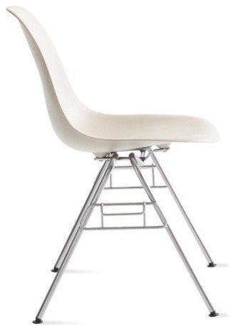 Eames Molded Plastic Stacking Side Chair midcentury-chairs