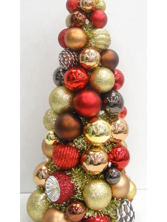 Marth Stewart Living Tree red, gold, brown ornaments - 18 inch -
