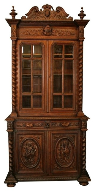 Consigned Antique 1880 French Buffet Hunting Style traditional-buffets-and-sideboards