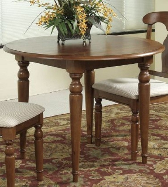 Bassett Mirror Charles X Round Drop Leaf Dining Table