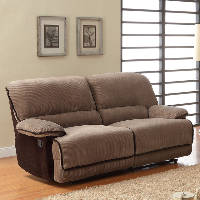 Tribecca home selena brown corduroy sofa contemporary for Brown corduroy couch