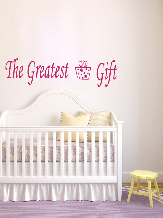 Vinyl Decals The Greatest Gift Phrase Home Wall Decor Removable Sticker Mural L5 -