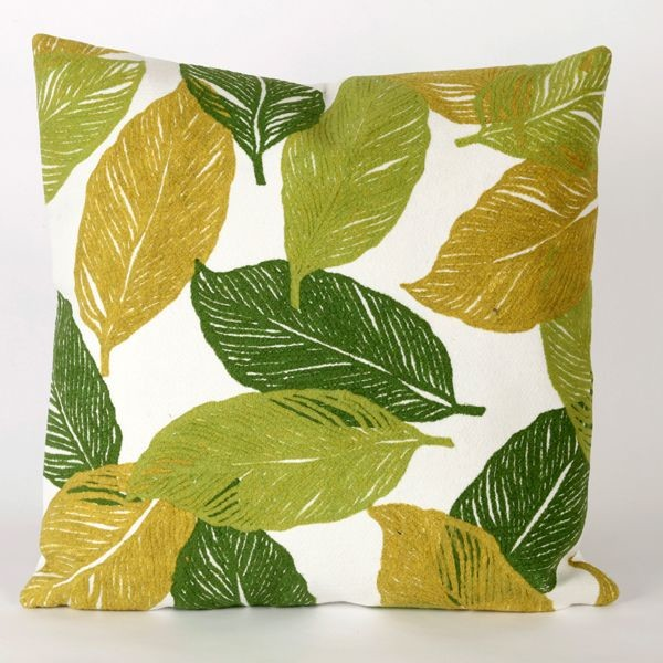Mystic Leaf Green Outdoor Pillow outdoor-cushions-and-pillows