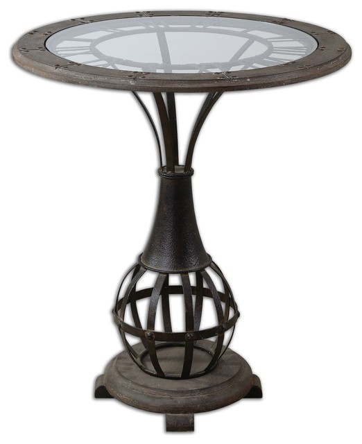 Uttermost Honi Glass Accent Table 24322 traditional-side-tables-and-end-tables