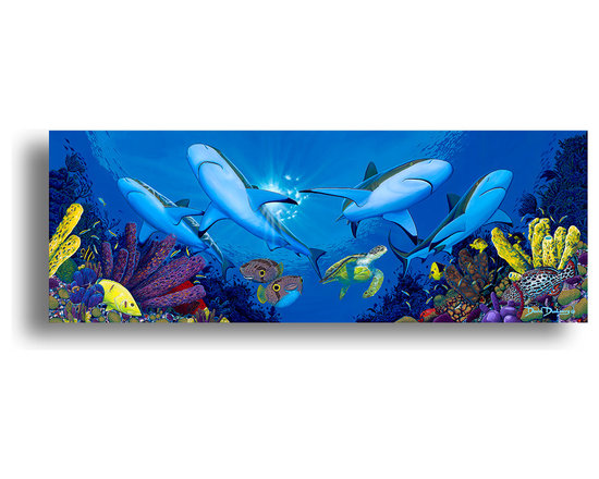 "Ready2HangArt - Ready2hangart David Dunleavy 'Creature Feature' Canvas Wall Art, 20"" X 40"" Inch - This beautiful canvas wall art brought to you by Ready2hangart from renowned artist David Dunleavy exemplifies his passion for marine life while translating it to detailed underwater paintings.  It is fully finished, arriving ready to hang on the wall of your choice."