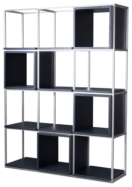 Grid II Black Shelving Unit - Modern - Display And Wall Shelves - other metro