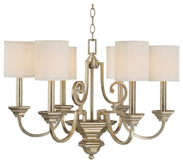 """Traditional Fifth Avenue Collection 6-Light 28"""" Wide Chandelier traditional-chandeliers"""