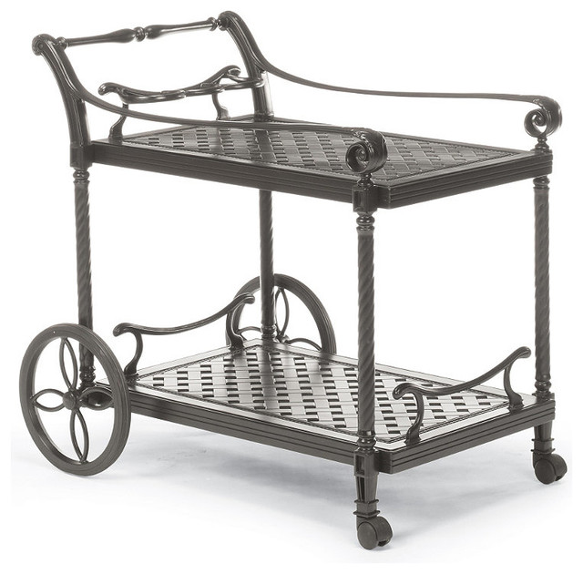 carlisle serving cart in gray finish traditional bar
