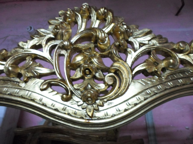Royal Golden console  - Wooden structure painting traditional-mirrors
