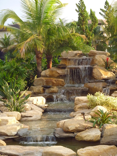 Florida Waterfalls Stream And Ponds Tropical Landscape