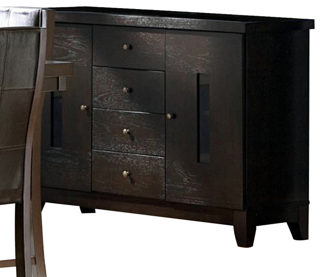 Homelegance Rigby 53 Inch Server in Dark Espresso - Traditional - Buffets And Sideboards - by ...