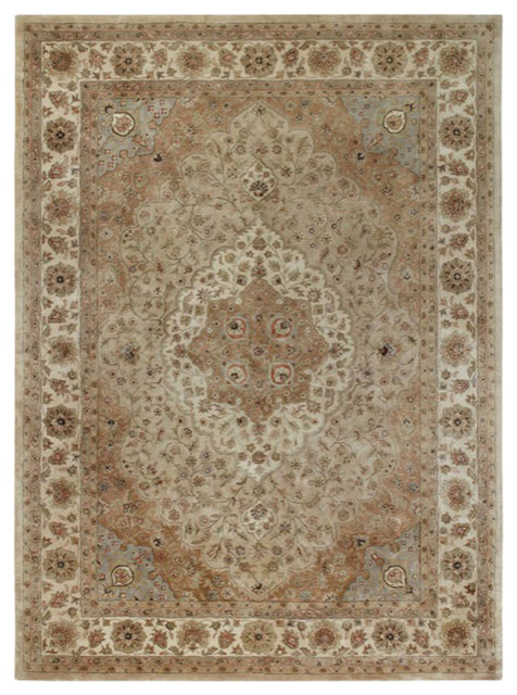 Capel Rugs Forest Park Tabriz Brown Area Rug contemporary-rugs