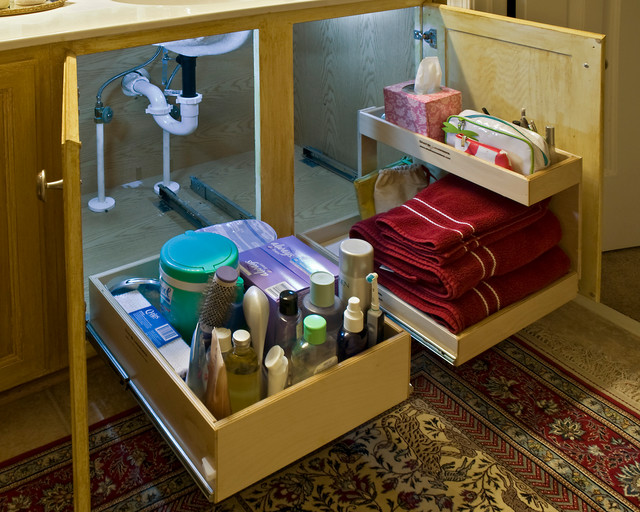 Bathroom Pull Out Shelves - Bathroom Cabinets And Shelves - miami - by ShelfGenie of Miami