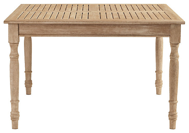 "Ceylon Whitewash Dining Table Square 48"" Farmhouse Outdoor Dining"