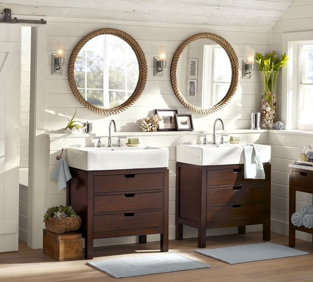 Seville Single Sink Console - Contemporary - Bathroom Vanities And Sink Consoles - by Pottery Barn