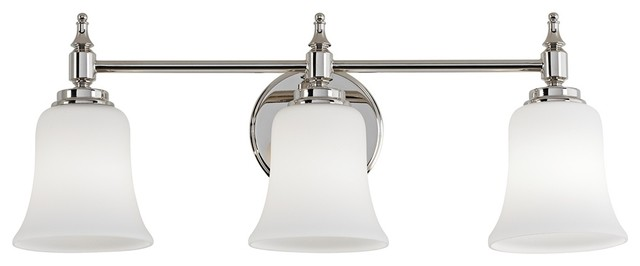 """Darcy Etched Glass 22"""" Wide Polished Nickel Bath Light contemporary-bathroom-vanity-lighting"""