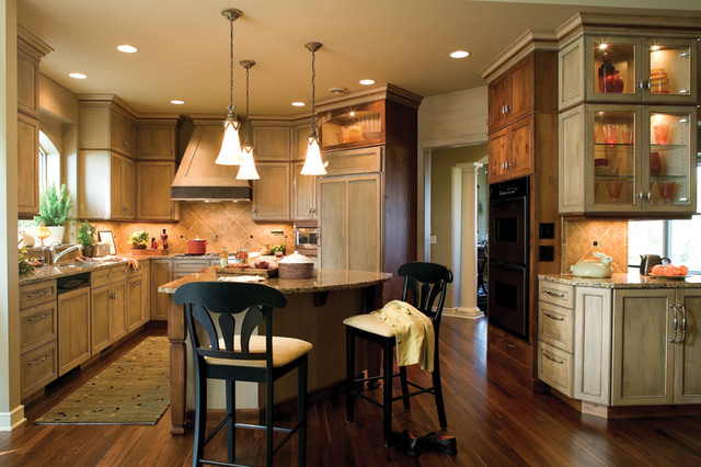 Two Toned Antiqued Kitchen kitchen