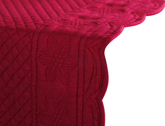 "Sonia Runner,  Burgundy,  16""x72"" traditional-tablecloths"